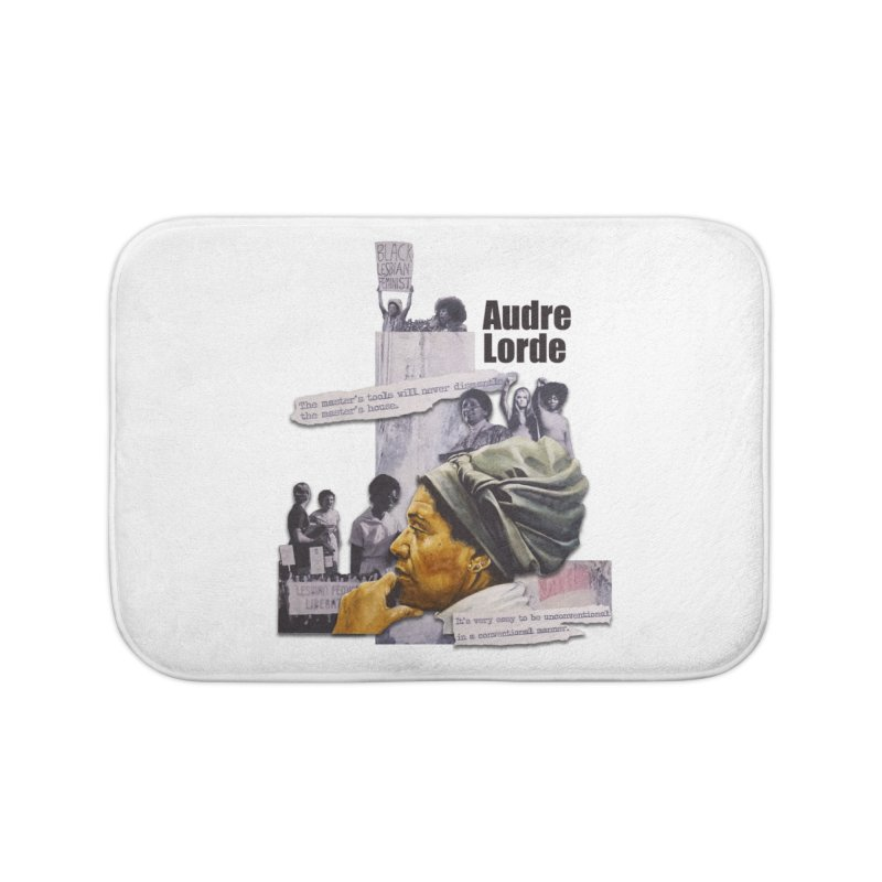 Audre Lorde Home Bath Mat by Afro Triangle's