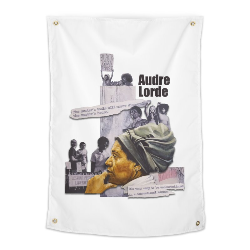 Audre Lorde Home Tapestry by Afro Triangle's
