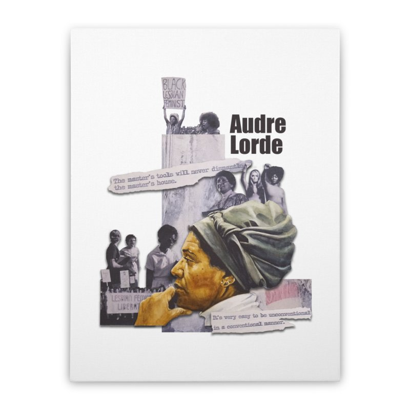 Audre Lorde Home Stretched Canvas by Afro Triangle's