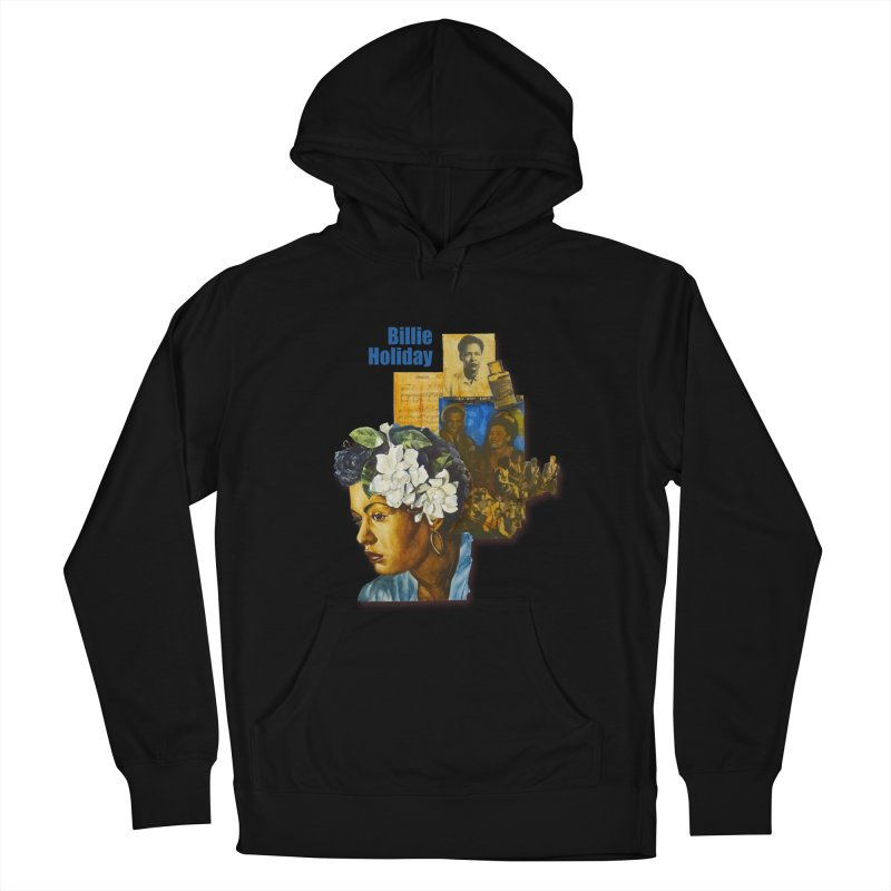 Billie Holiday Men's French Terry Pullover Hoody by Afro Triangle's