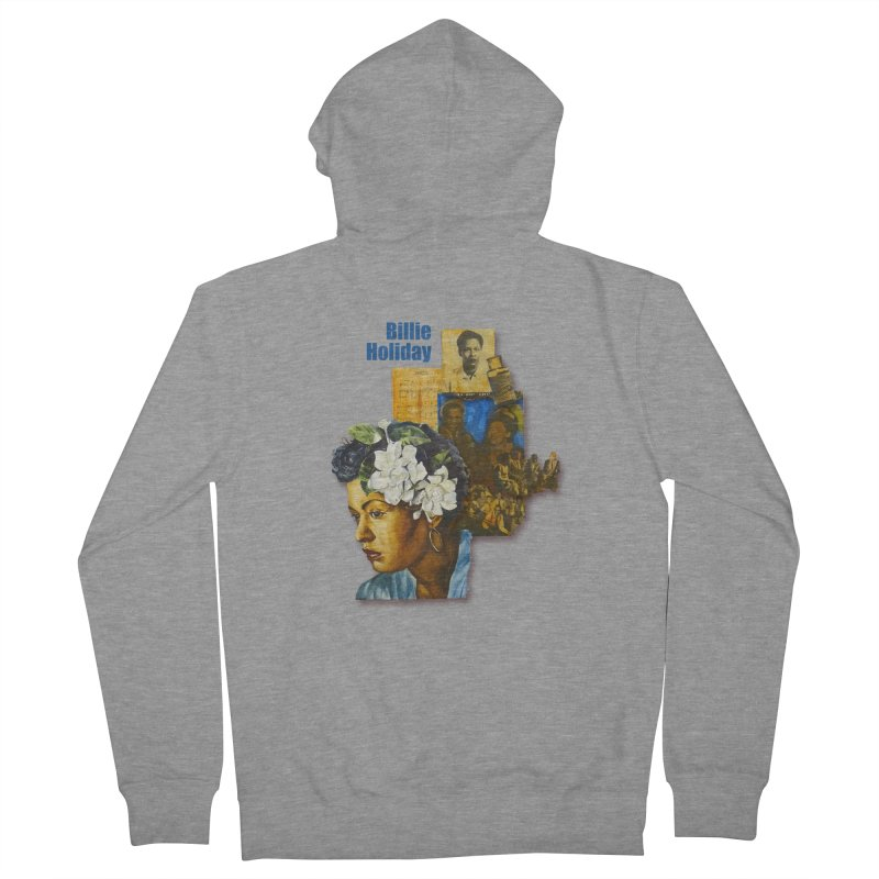 Billie Holiday Women's French Terry Zip-Up Hoody by Afro Triangle's