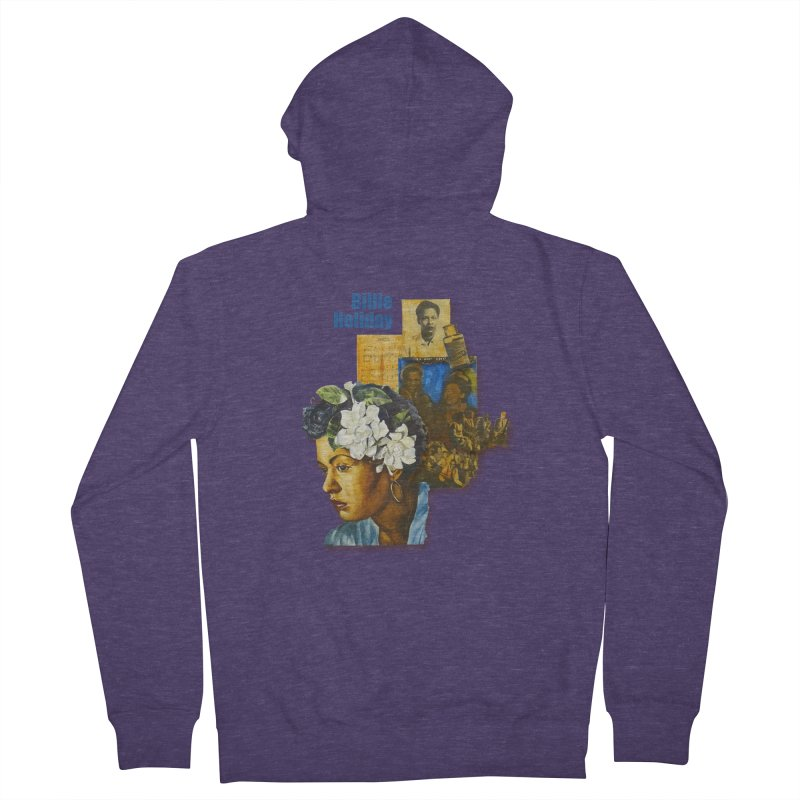 Billie Holiday Men's Zip-Up Hoody by Afro Triangle's