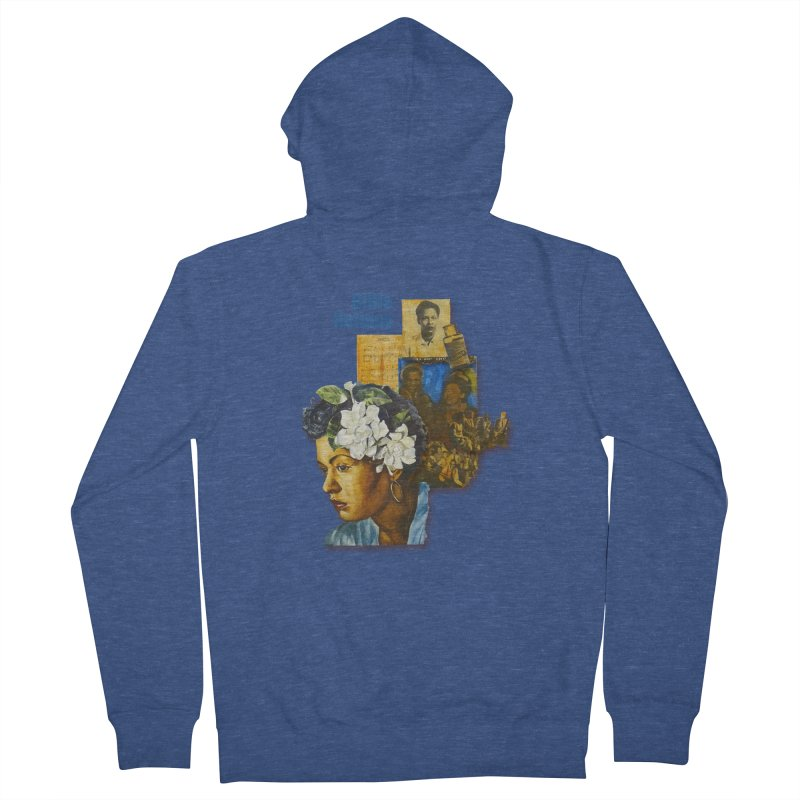 Billie Holiday Men's French Terry Zip-Up Hoody by Afro Triangle's