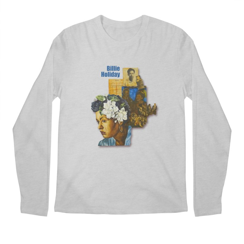 Billie Holiday Men's Regular Longsleeve T-Shirt by Afro Triangle's