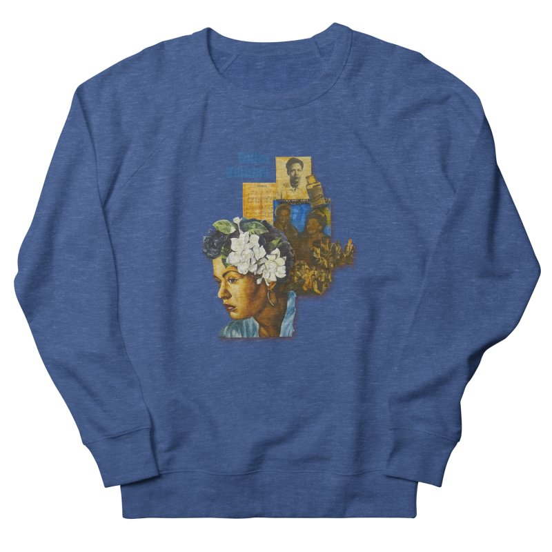 Billie Holiday Women's French Terry Sweatshirt by Afro Triangle's