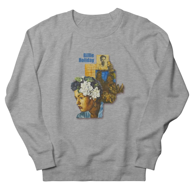Billie Holiday Men's French Terry Sweatshirt by Afro Triangle's