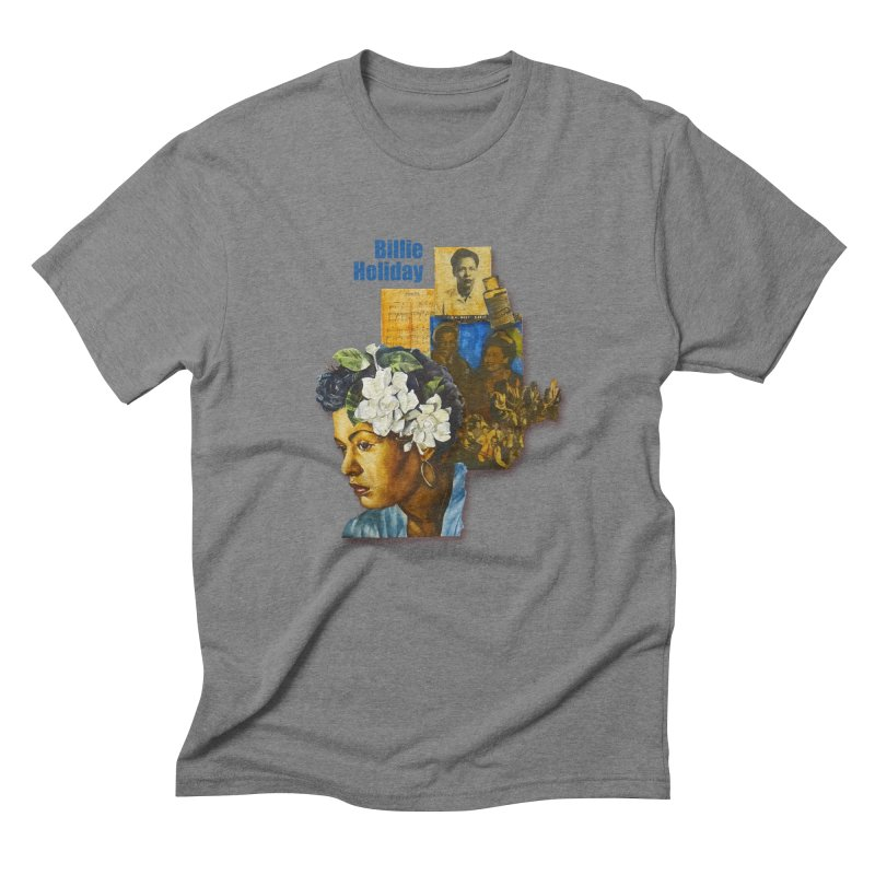 Billie Holiday Men's Triblend T-Shirt by Afro Triangle's