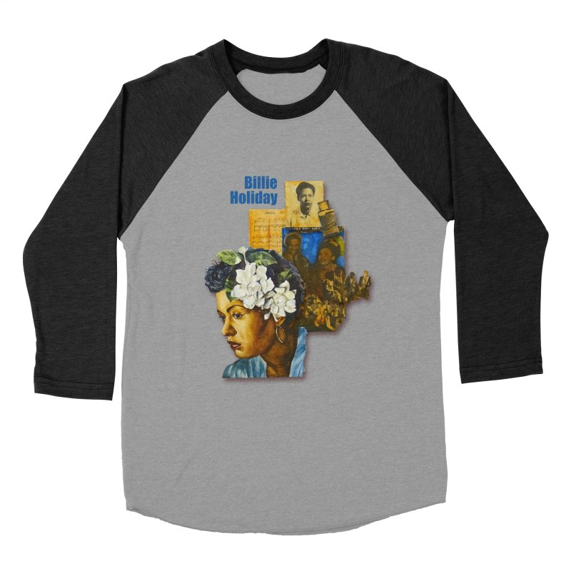 Billie Holiday Women's Baseball Triblend Longsleeve T-Shirt by Afro Triangle's