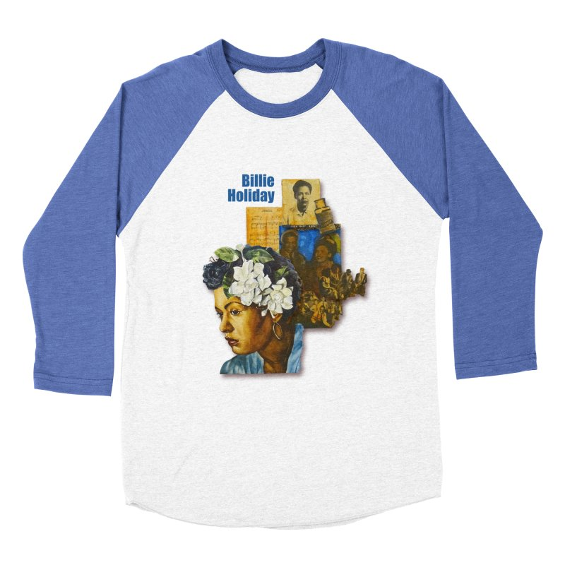 Billie Holiday Men's Baseball Triblend Longsleeve T-Shirt by Afro Triangle's
