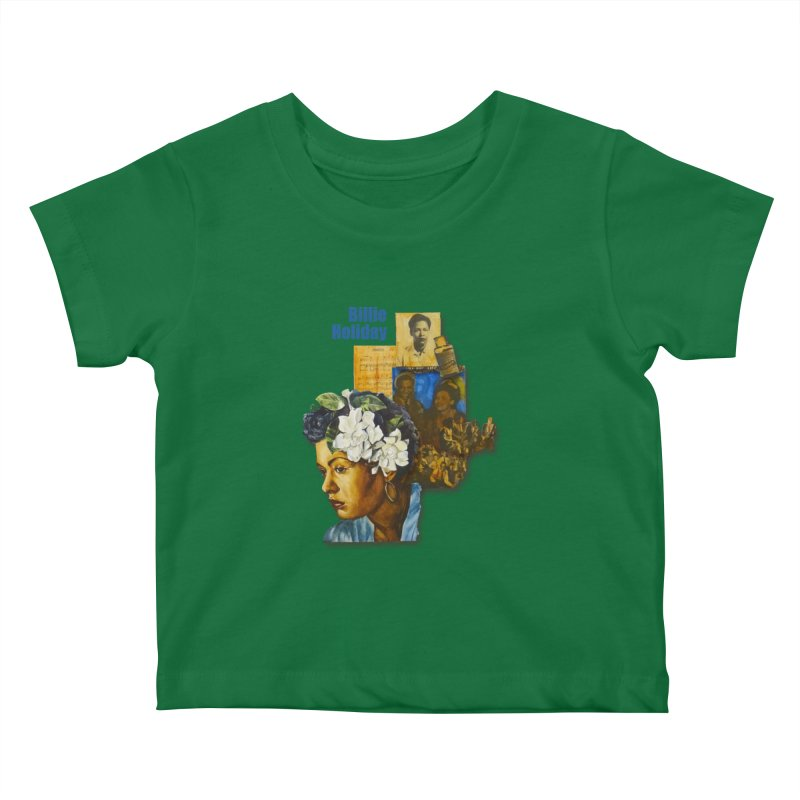 Billie Holiday Kids Baby T-Shirt by Afro Triangle's