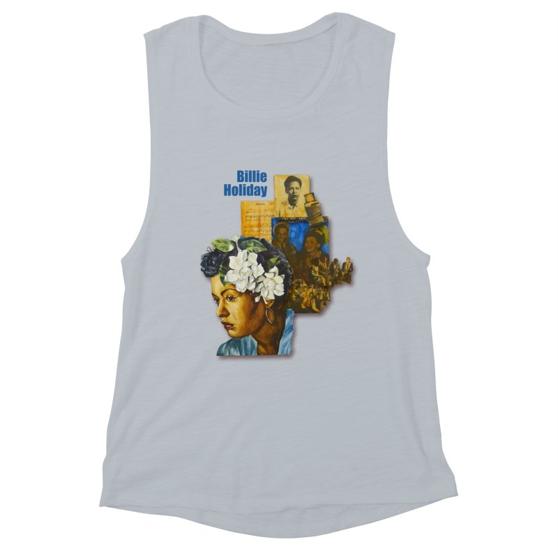 Billie Holiday Women's Muscle Tank by Afro Triangle's