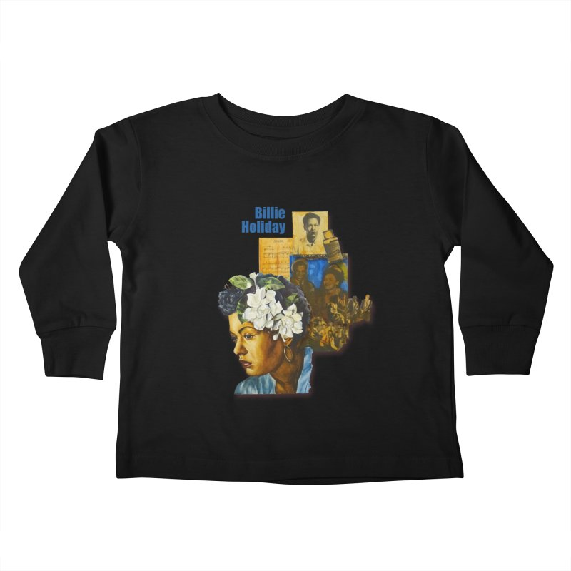 Billie Holiday Kids Toddler Longsleeve T-Shirt by Afro Triangle's