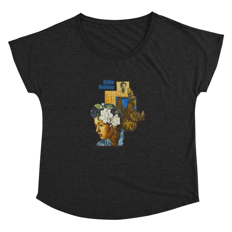 Billie Holiday Women's Dolman Scoop Neck by Afro Triangle's
