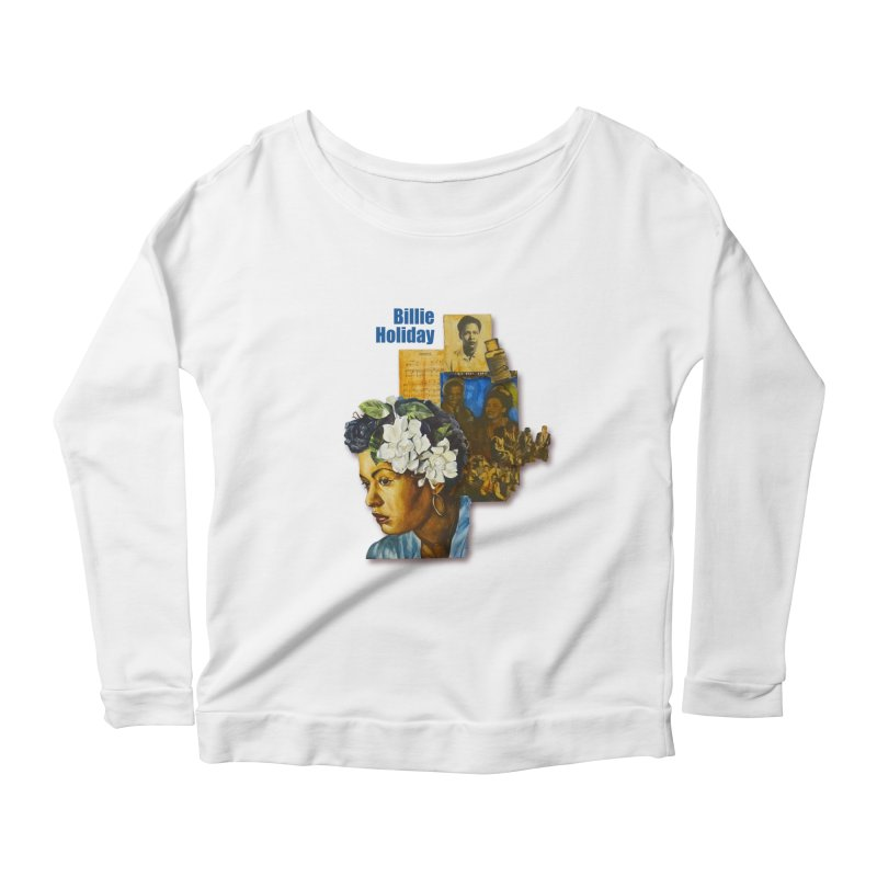 Billie Holiday Women's Scoop Neck Longsleeve T-Shirt by Afro Triangle's