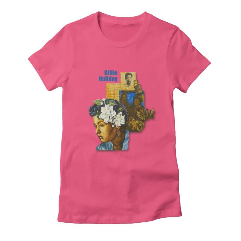 Billie Holiday Women's Fitted T-Shirt by Afro Triangle's