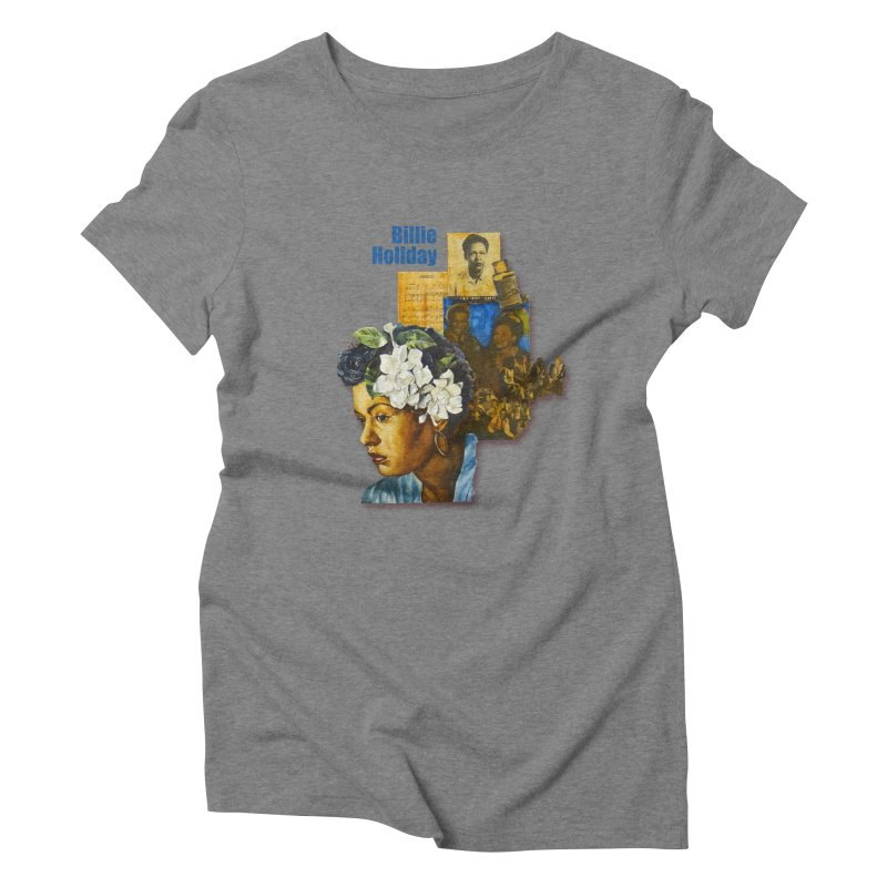 Billie Holiday Women's Triblend T-Shirt by Afro Triangle's