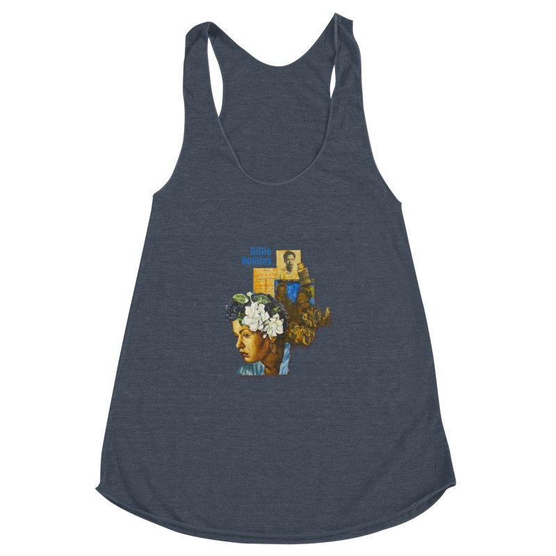 Billie Holiday Women's Racerback Triblend Tank by Afro Triangle's