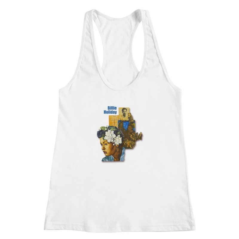 Billie Holiday Women's Racerback Tank by Afro Triangle's