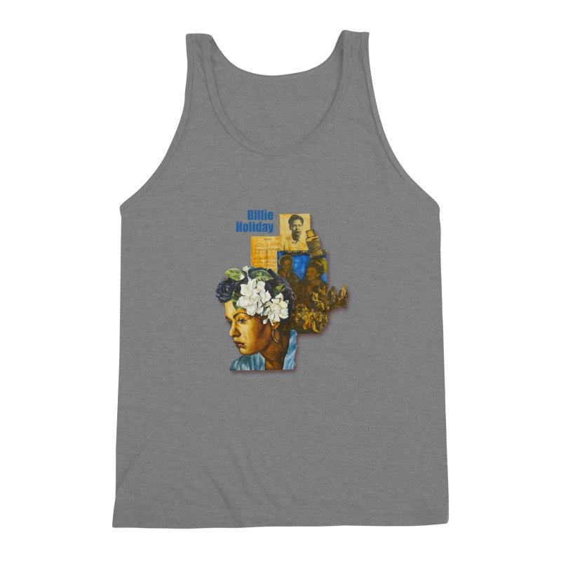 Billie Holiday Men's Triblend Tank by Afro Triangle's