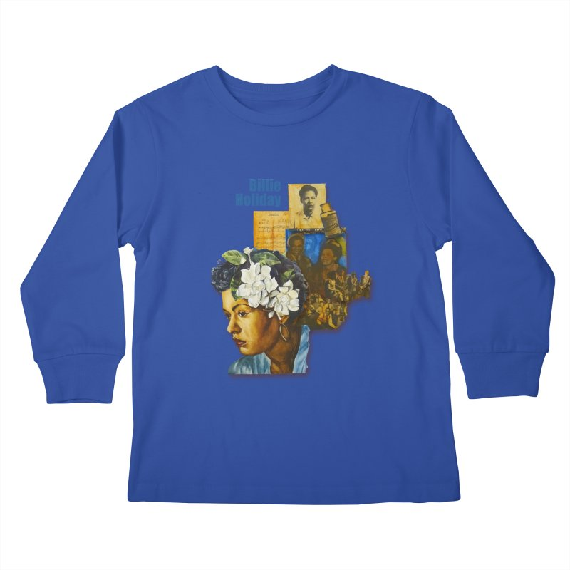 Billie Holiday Kids Longsleeve T-Shirt by Afro Triangle's