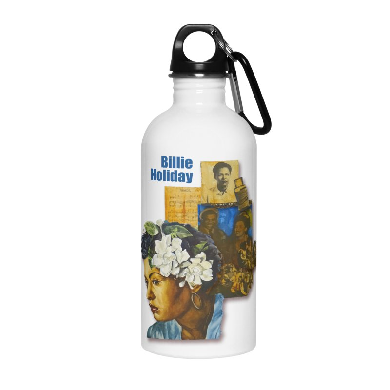 Billie Holiday Accessories Water Bottle by Afro Triangle's