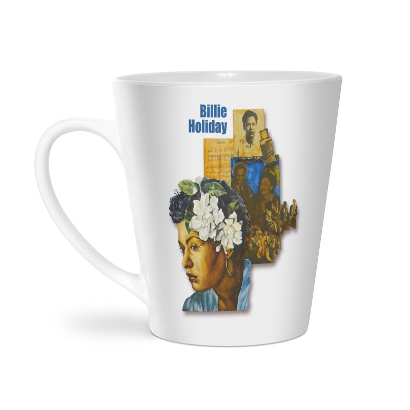 Billie Holiday Accessories Latte Mug by Afro Triangle's