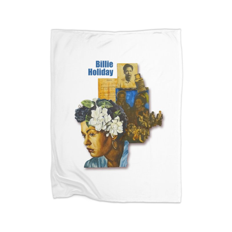 Billie Holiday Home Fleece Blanket Blanket by Afro Triangle's