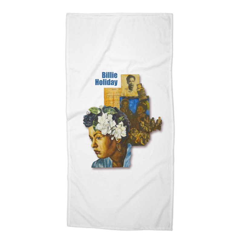 Billie Holiday Accessories Beach Towel by Afro Triangle's