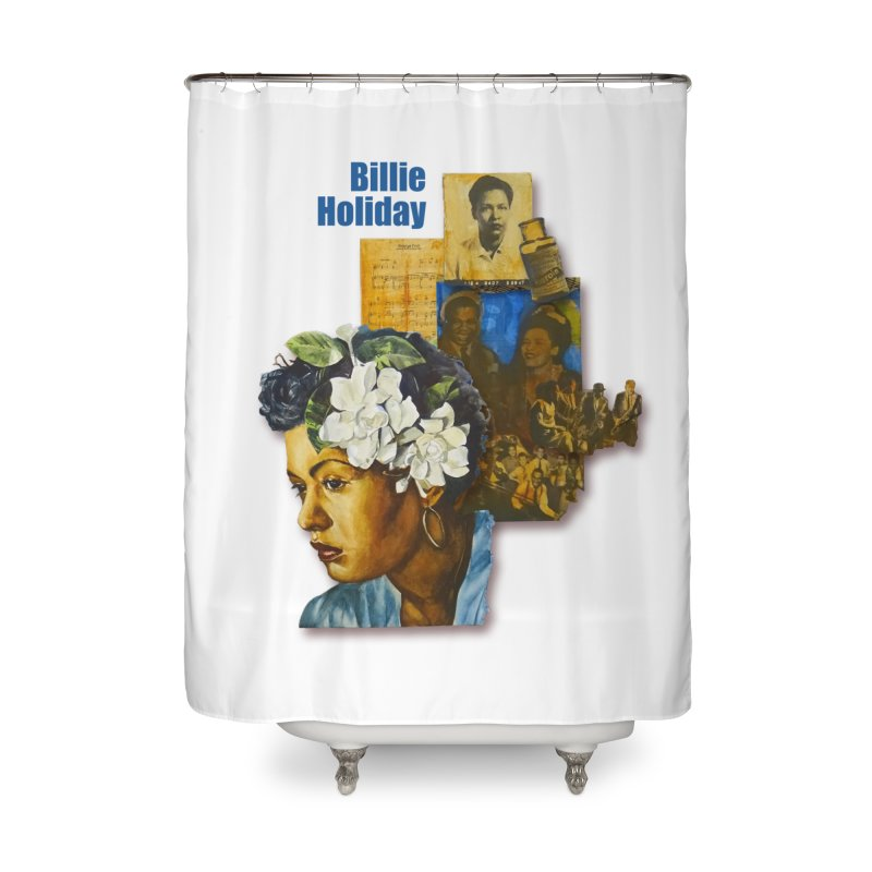Billie Holiday Home Shower Curtain by Afro Triangle's