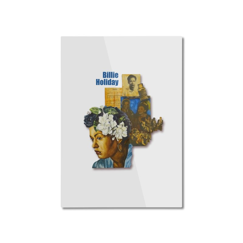 Billie Holiday Home Mounted Aluminum Print by Afro Triangle's