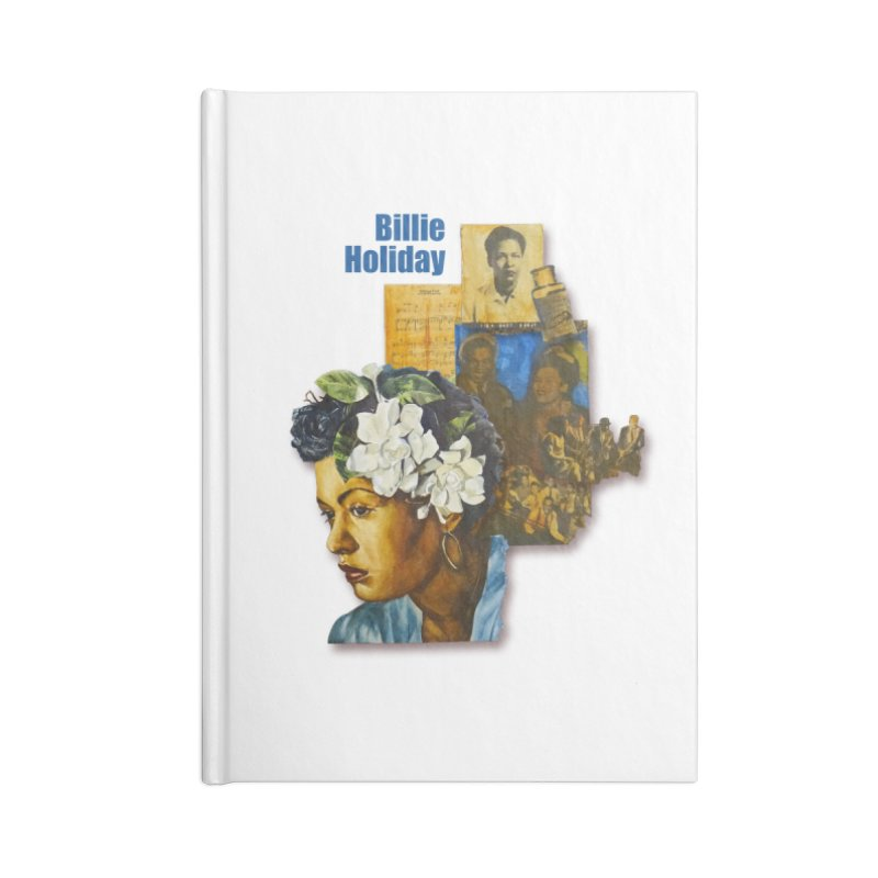 Billie Holiday Accessories Blank Journal Notebook by Afro Triangle's