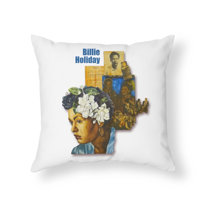 Billie Holiday Home Throw Pillow by Afro Triangle's