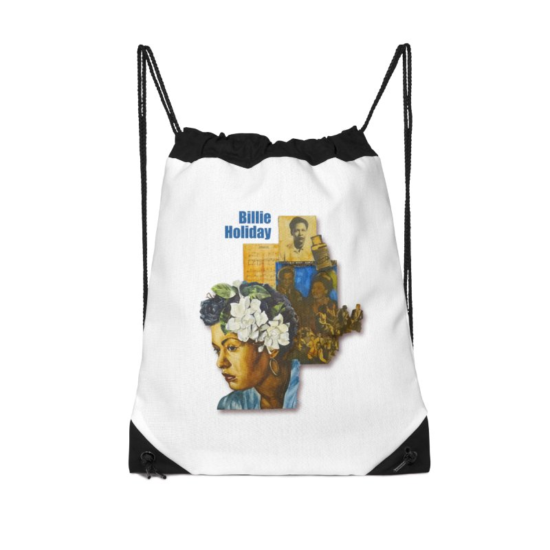 Billie Holiday Accessories Drawstring Bag Bag by Afro Triangle's