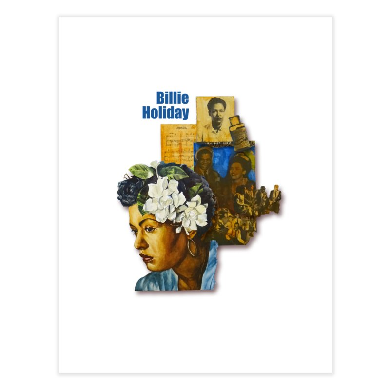 Billie Holiday Home Fine Art Print by Afro Triangle's