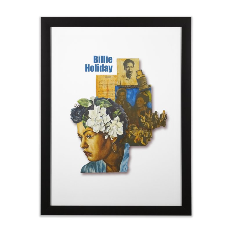 Billie Holiday Home Framed Fine Art Print by Afro Triangle's