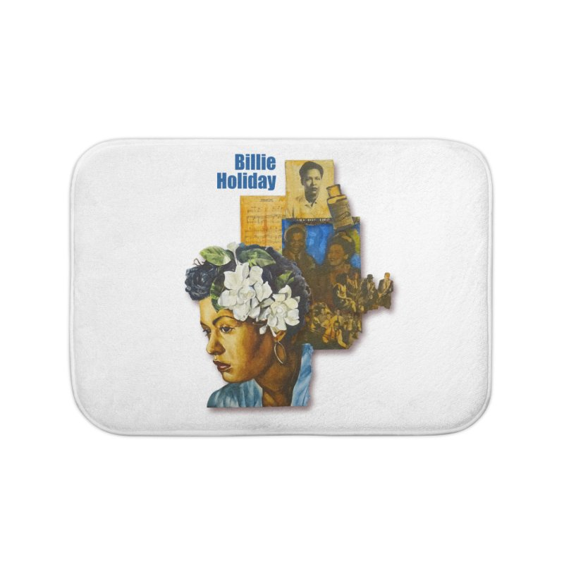 Billie Holiday Home Bath Mat by Afro Triangle's