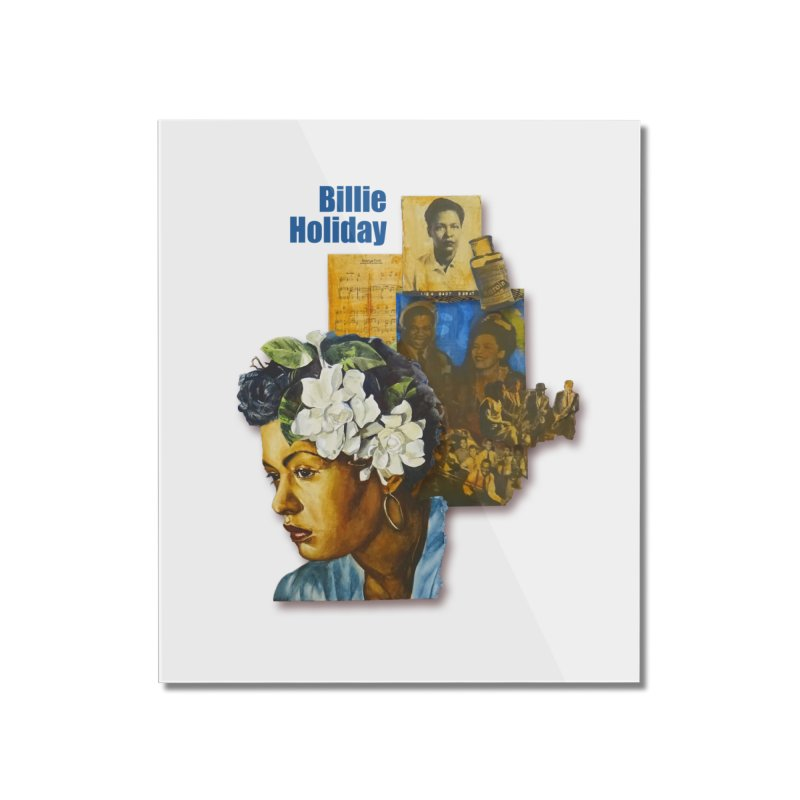 Billie Holiday Home Mounted Acrylic Print by Afro Triangle's