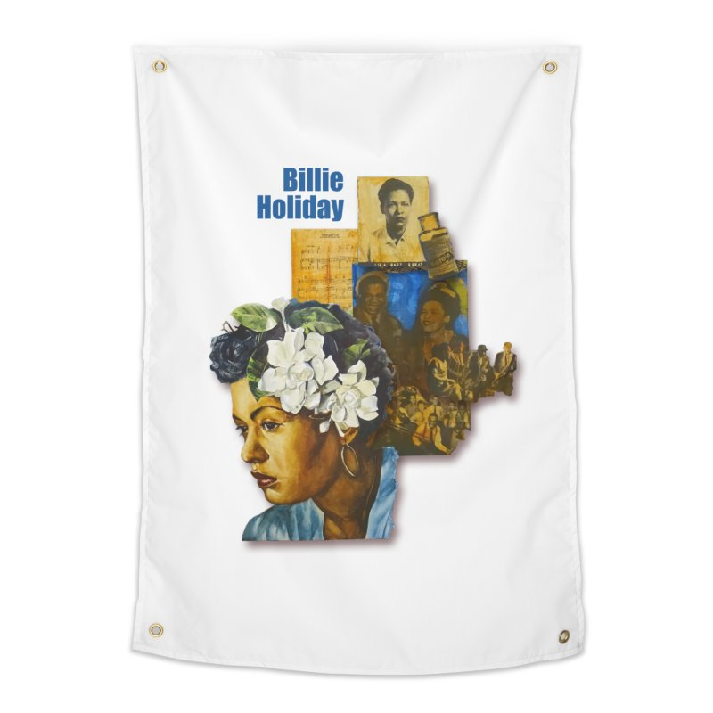 Billie Holiday Home Tapestry by Afro Triangle's