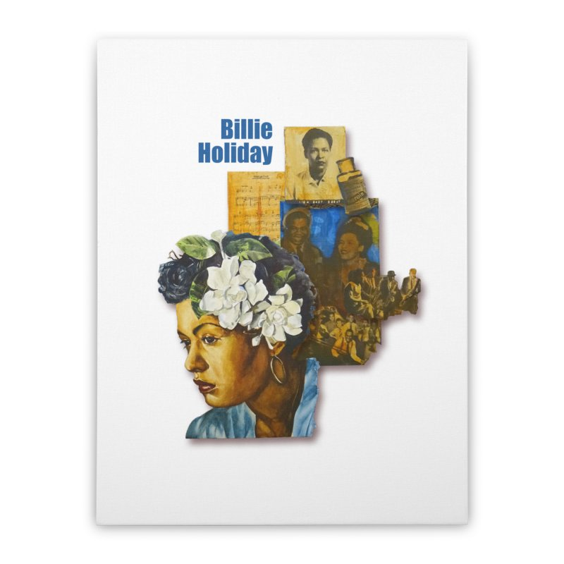 Billie Holiday Home Stretched Canvas by Afro Triangle's