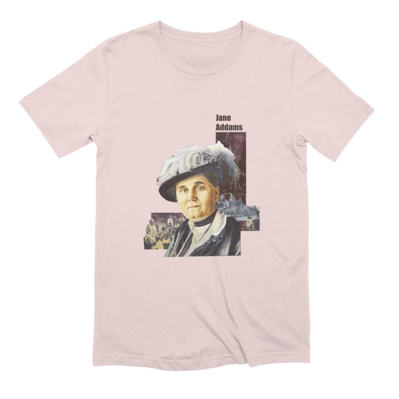 Jane Addams Men's Extra Soft T-Shirt by Afro Triangle's
