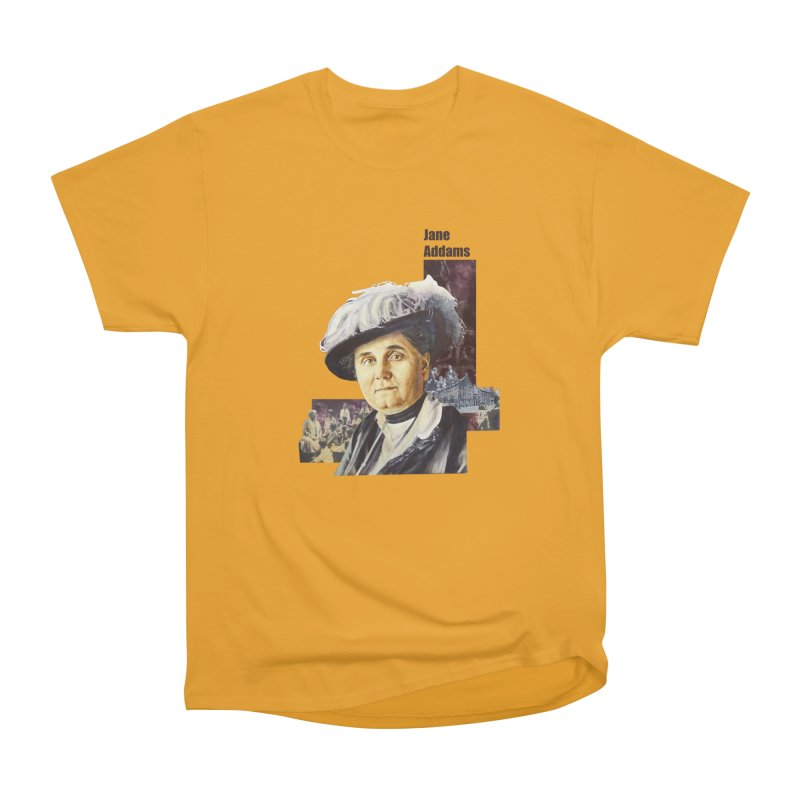 Jane Addams Men's Heavyweight T-Shirt by Afro Triangle's