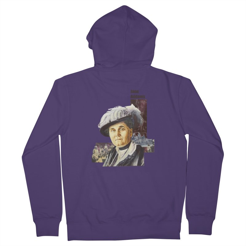 Jane Addams Women's French Terry Zip-Up Hoody by Afro Triangle's