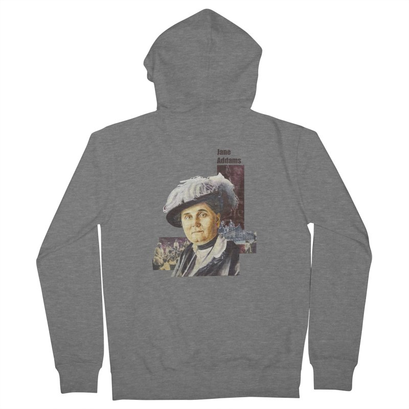 Jane Addams Men's French Terry Zip-Up Hoody by Afro Triangle's