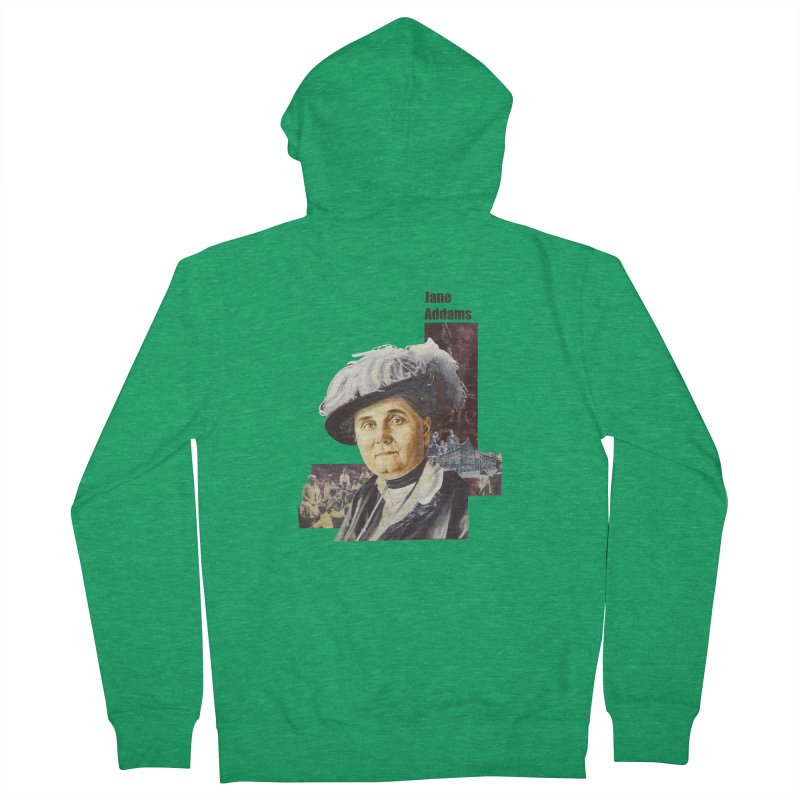 Jane Addams Men's Zip-Up Hoody by Afro Triangle's