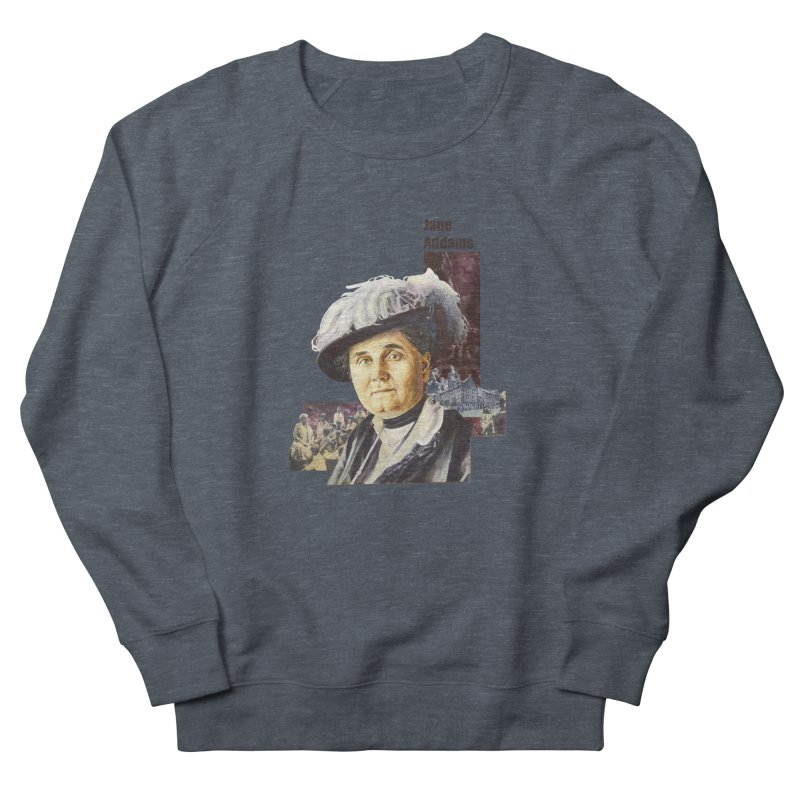 Jane Addams Men's French Terry Sweatshirt by Afro Triangle's