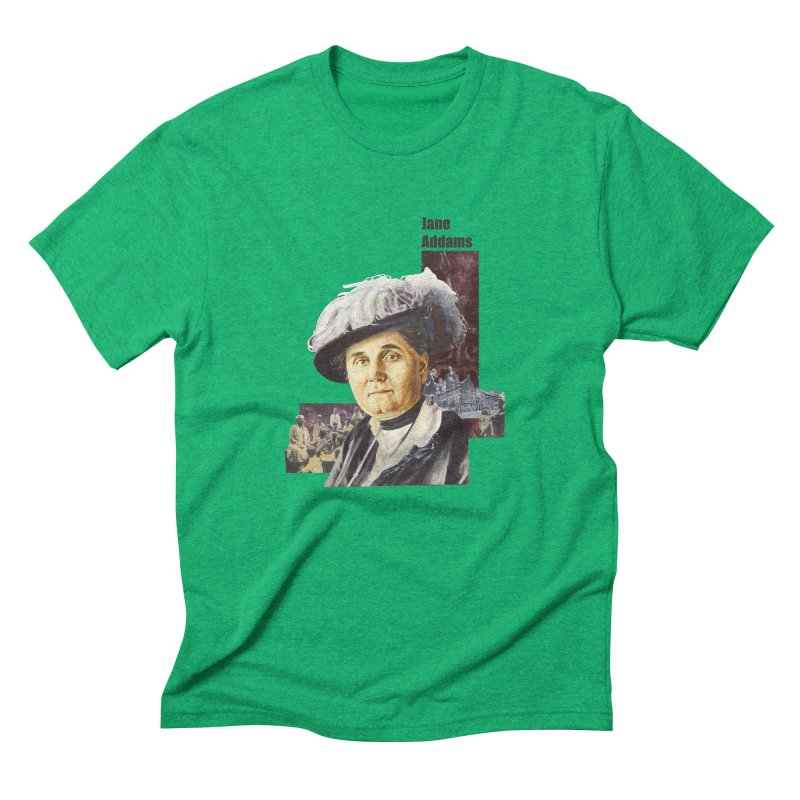 Jane Addams Men's Triblend T-Shirt by Afro Triangle's
