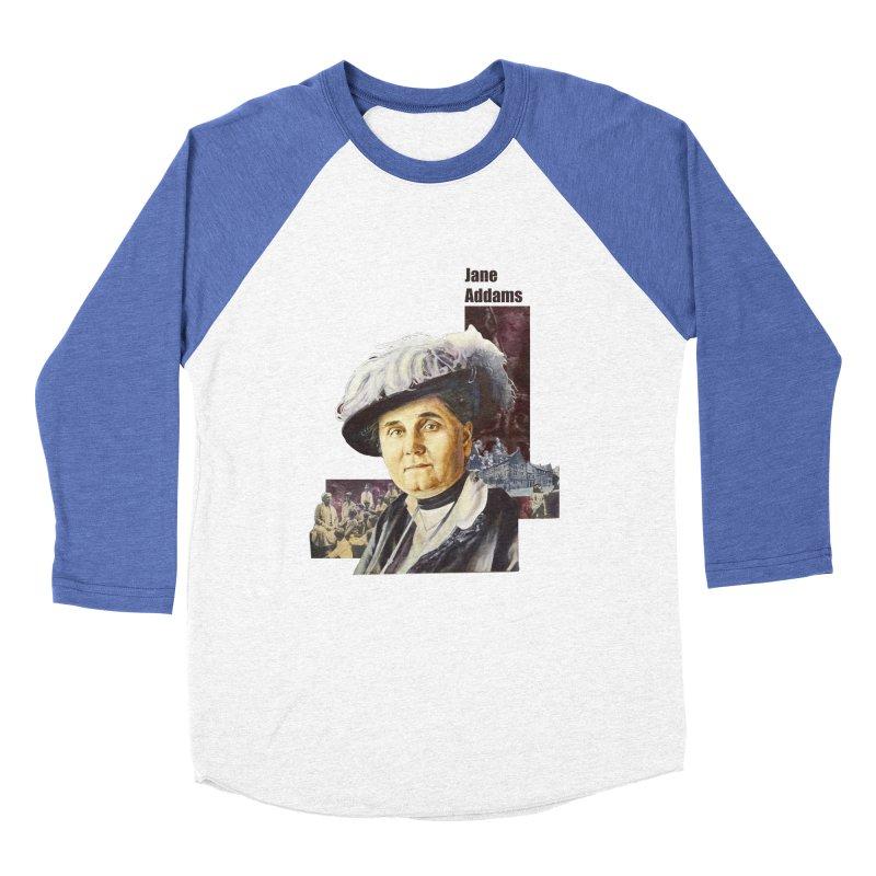 Jane Addams Women's Baseball Triblend Longsleeve T-Shirt by Afro Triangle's