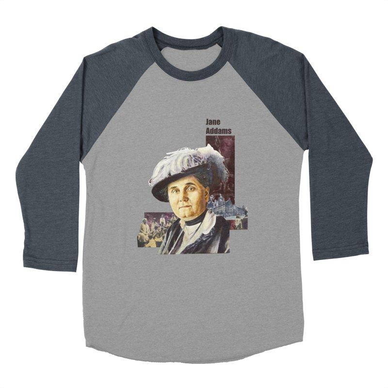 Jane Addams Men's Baseball Triblend Longsleeve T-Shirt by Afro Triangle's