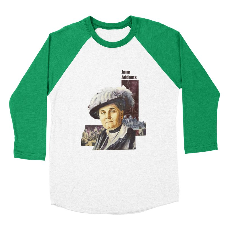 Jane Addams Men's Baseball Triblend T-Shirt by Afro Triangle's