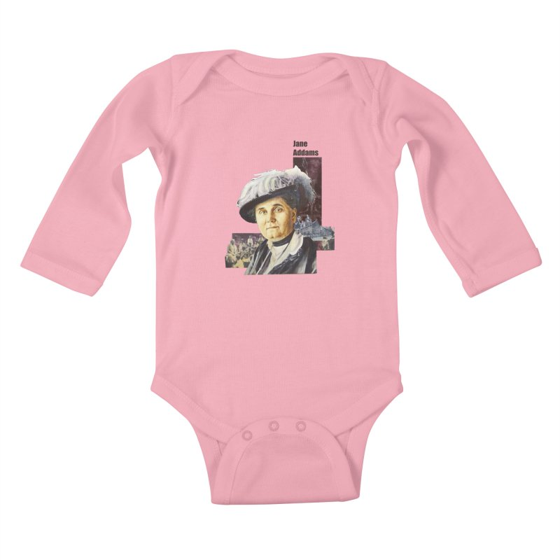 Jane Addams Kids Baby Longsleeve Bodysuit by Afro Triangle's